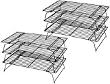 Tebery 2 Pcs Three Tier Stackable Non-Stick Cake Cooling Rack, 25 x 40 cm(9.75' x 16')