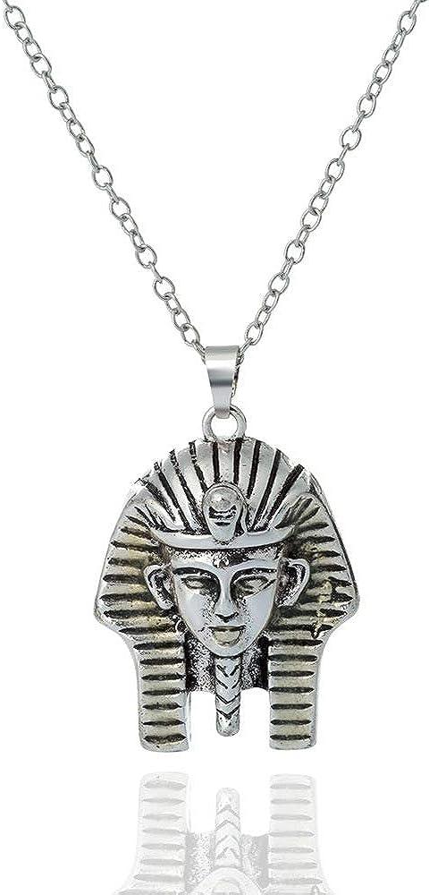 Kolye Moana Collares Glowing Necklace Egyptian Pharaoh Shape Pendant Halloween Fashion and Women Luminous Series