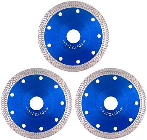 ADXOLE Porcelain Tile Turbo Thin Diamond Dry Cutting Blade/Disc Grinder wheel 115mm