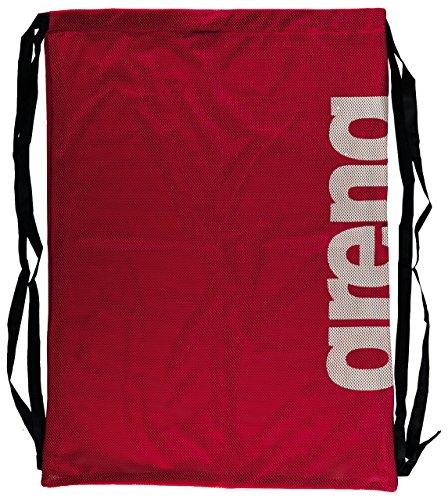 arena Unisex 2-in-1 Netztasche Rucksack Mesh Bag (Schnelltrocknend, Kordelverschluss), Red Team (40), One Size