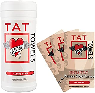 Tat Towels (NEW!) A Better Way to Moisturize and Enhance Your Tattoos Canister & Individual Packs Per OrderOn Sale