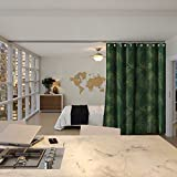 RoomDividersNow Premium Ceiling Track Room Divider Kit - Small B, 9ft Tall x 3ft - 4ft 6in Wide (The Jungle)
