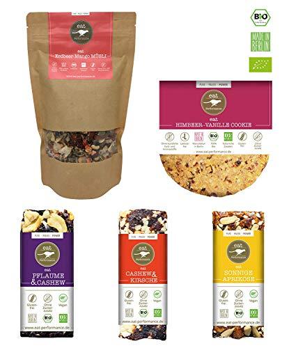 eat Performance® Kickstarter Box (3x Riegel, 1x Sommer Müsli, 1x Cookie) - Bio, Paleo, Glutenfrei, Ohne Milch, Ohne Zuckerzusatz, Aus 100% Natürlichen Zutaten