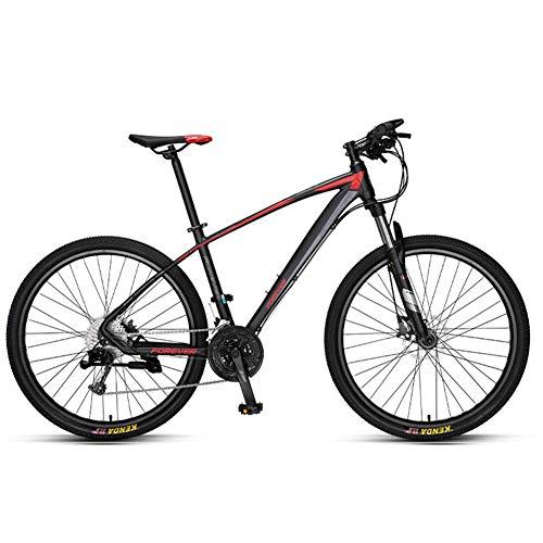 Unbekannt Mountain Bikes, Aluminium 33 Geschwindigkeit Mountainbike, Hardtail Mountainbike Mit Doppelscheibenbremse, Pendler Bike,Spoke Black,27.5in