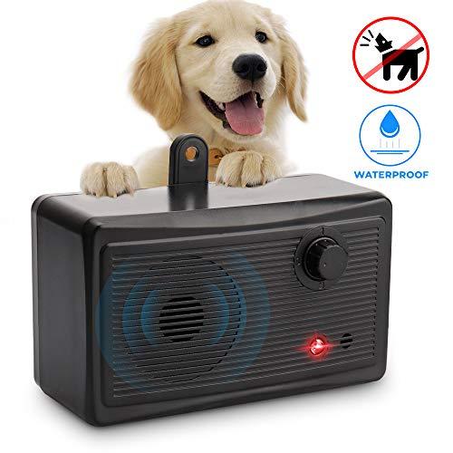 Marialove Bark Control Device, Upgrade Outdoor Anti Barking Device, Sonic Bark Deterrents Silencer Stop Barking Bark Stop Repeller