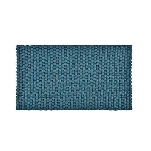 Pad - Uni in/Outdoor - Fußmatte, Badematte, Türmatte - Petrol/blau - 72x92 cm