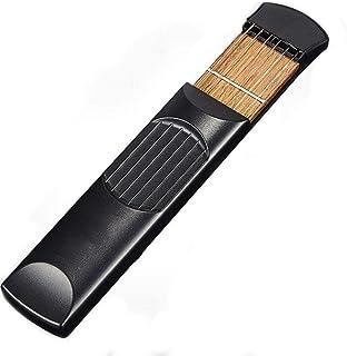 اداة خشبية بشكل جيتار واوتار بحجم الجيب للتدريب للمبتدئين، قابل للحمل
