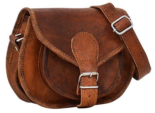 Gusti Umhängetasche Leder - Claire Handtasche Ledertasche Vintage Braun Leder