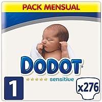 Dodot Sensitive Pañales Talla 1, 276 Pañales, 2-5 kg