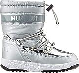 Moon-boot Jr Girl Soft WP, Bottes de Neige Femme, Argenté (Argento 003), 38 EU