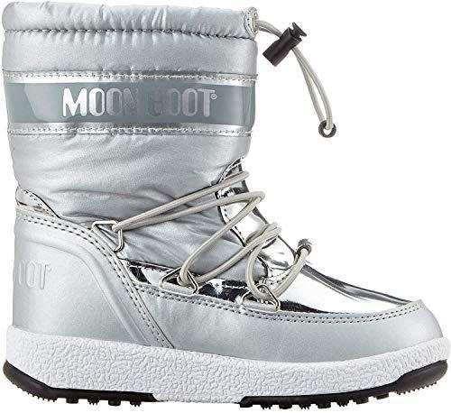Moon-boot Jr Girl Soft WP, Bottes de Neige Femme, Argenté (Argento 003), 36 EU