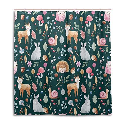 MyDaily Aquarell-Duschvorhang mit Feen-Motiv, 182,9 x 182,9 cm, wasserdicht, Polyester, Badezimmer-Dekoration mit Haken