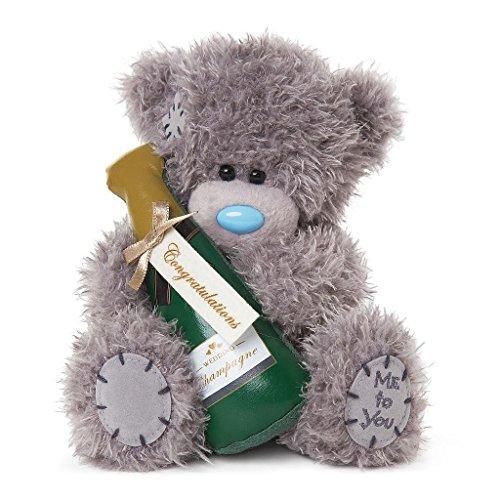 Me To You- Congratulations - Oso de Peluche de champán, Regalo de Boda, Color (Carte Blanche Greetings Ltd G01W4055)