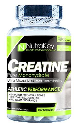 Nutrakey Creatine Monohydrate Capsules ultramicronized formula for maximum bioavailability