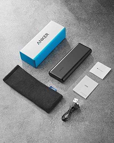 Portable Charger Anker PowerCore 20100mAh - Ultra High Capacity Power Bank with 4.8A Output and PowerIQ Technology, External Battery Pack for iPhone, iPad & Samsung Galaxy & More (Black)