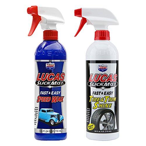 Lucas Slick Mist rapide et facile Speed Cire 710 ml + Lot de pneu et bordure Shine 710 ml