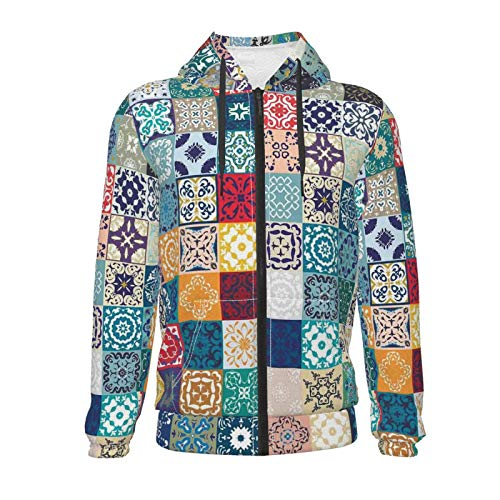 Inaayayi Patchwork Vintage Lisboa España Túnez Motifs Suéter unisex adolescente 3D Casual Pullover Sudaderas con capucha para niños y niñas con bolsillo