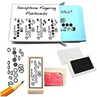 Saxophone Student Gift Pack (Flashcards, Fingering Rubber Stamp & Pad!) …