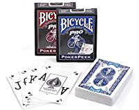 Bicycle Pro Poker Peek Playing Cards (Colour May Vary, One Deck Supplied) by Bicycle Cards