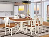 7 PC Dining room set-Dining Table with Leaf and 6...