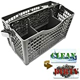 Dishwasher Silverware Basket Universal - Clean Dirty Magnet Sign - Utensil/Cutlery Holder Replacement - Fits Bosch, Maytag, Kenmore, Whirlpool, KitchenAid, LG, Samsung, Frigidaire, GE