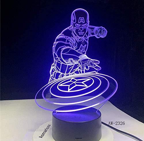 Decoración para el hogar Único Regalo Lamp3D Multicolores Mesa Acrílico Luz de Noche Led Ilusión Táctil USB Lámpara Niño Niños Juguete Regalo