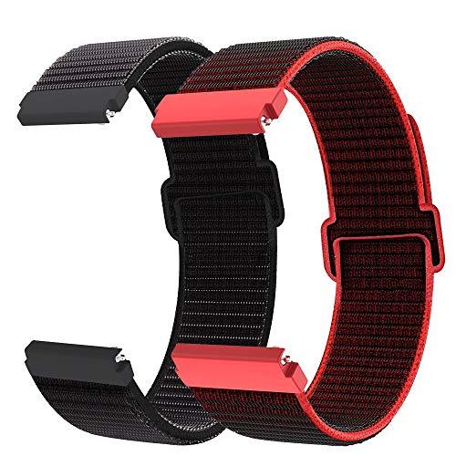 Younsea Correa Gear S3 Classic/Gear S3 Frontier/Galaxy Watch 46 mm/Galaxy Watch 3 45mm, Correa de Nailon 22mm de Liberación Rápida para Huawei Watch GT/GT 2 46mm/Fossil Gen 5