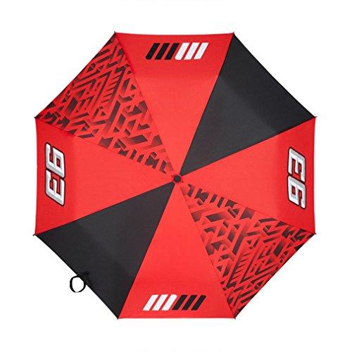Marc Marquez 93 Moto GP Logo Faltbar Regenschirm Rot Offiziell 2018