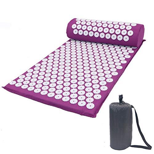 Akupressurmatte & Kissen Set, LIDIWEE Massagematte Spike Yogamatte für Schmerzlinderung und Muskel Entspannung Yoga Massage Matte Akupressur-Set 68x42cm - mit Tragetasche