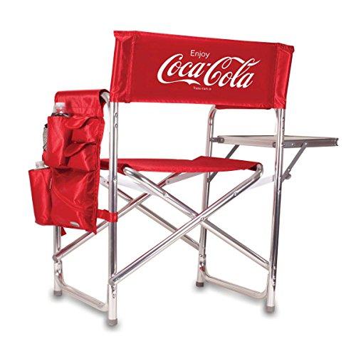 PICNIC TIME Silla de Deporte Plegable portátil, Coca Cola Collection-Red