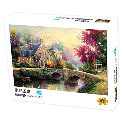 RAIKE Jigsaw Puzzle 1000 Piezas Adultos - Jigsaw Puzzle Adultos - World Puzzle-DIY Niños Niños Adultos Jigsaw Puzzle 1000 Piezas Paisaje M