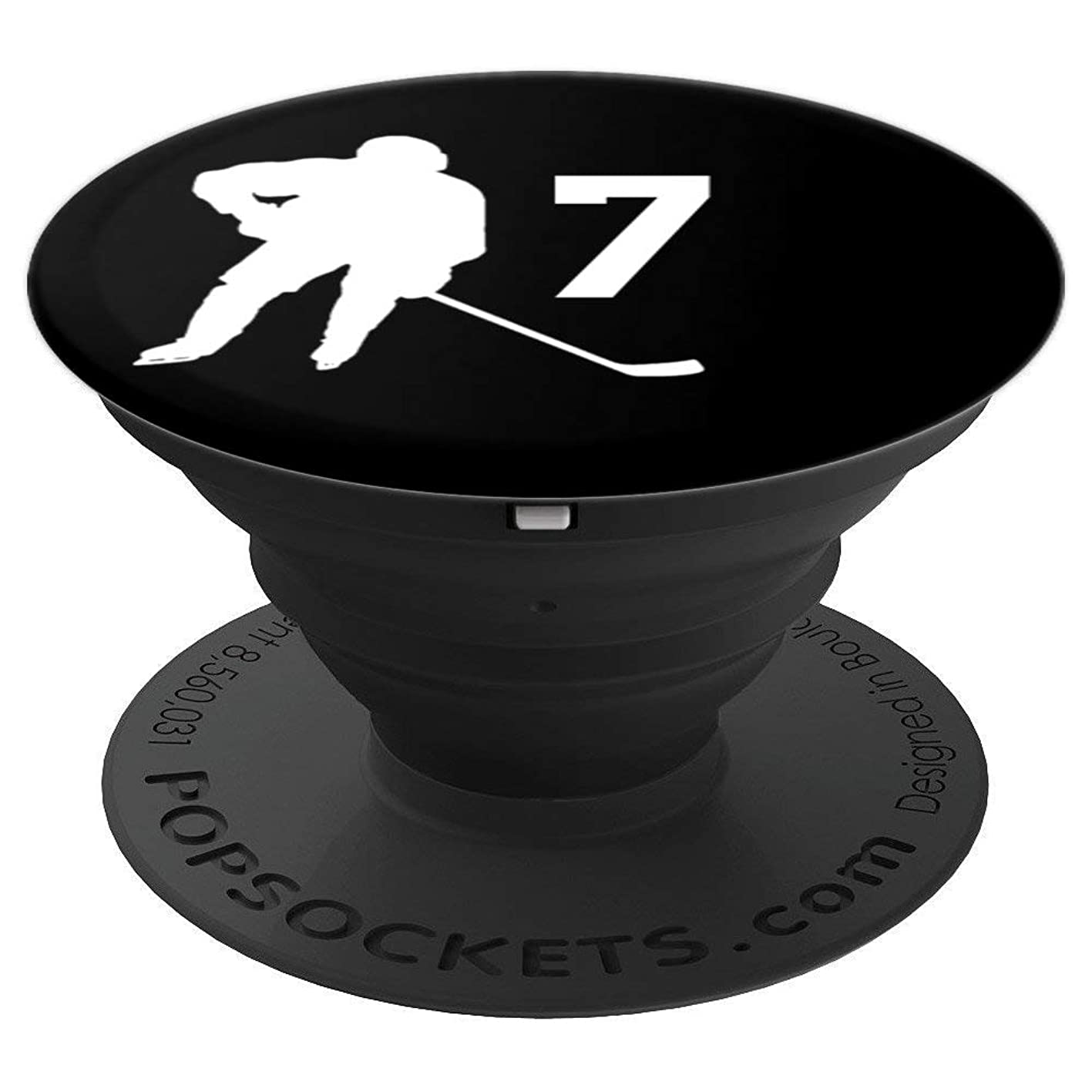 Number 7 , #7, Hockey Gifts for Men, Boys, Teens, Women, - PopSockets Grip and Stand for Phones and Tablets fcqfvbkbmhg879