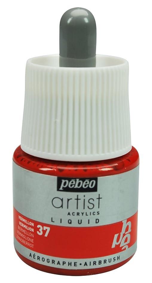 Pebeo Artist Acrylics, Liquid Acrylic Ink, 45 ml Bottle with Dropper - Vermilion