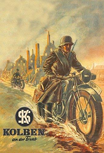 Schatzmix NSU Motorrad Bundeswehr Soldat wehrmacht Metal Sign deko Sign Garten Blech