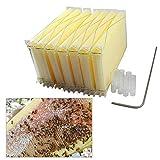 7 unidades de marcos de colmena automáticos de leche de nido de leche, marcos de abejas mejorados