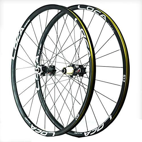 Mountain Bike Wheelset 26/27.5/29 Inches Disc Brake 24 Spoke 8-12speed Cassette Flywheel QR Sealed Bearing Hubs 1850g (Color : E, Size : 26in)