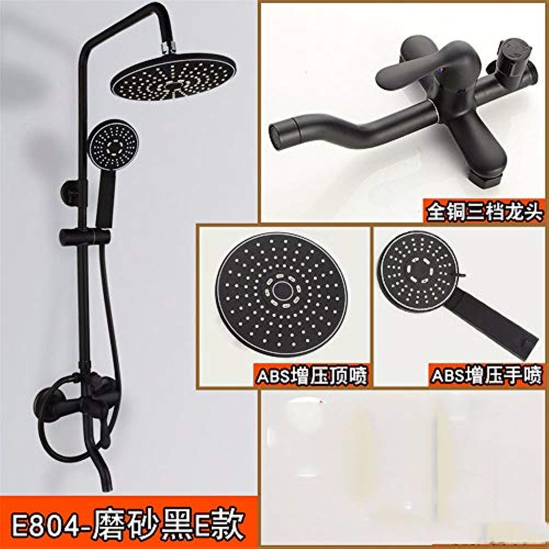 Schwarz Duschset Vollkupfer Dusche Mit Wasserhahn Aufzug Dusche E.