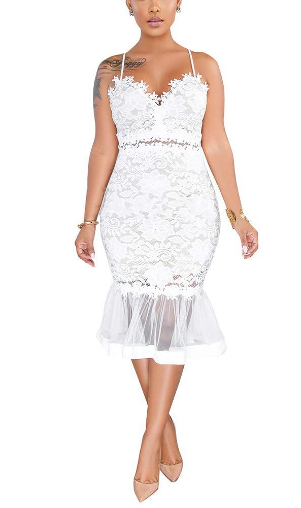 White Dress - Women's Retro 1950s Style Sleeveless Slim Business Pencil Dress