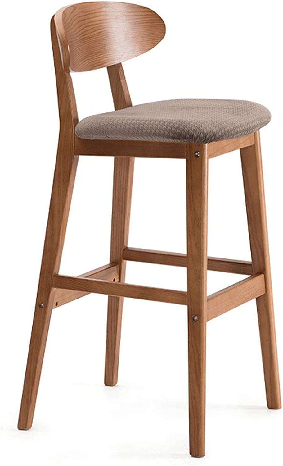 LIQICAI Bar Stool Modern Design PU Leather Adjustable Bar Stools with Back, Counter Height Swivel Stool Bar Chairs, 3 colors (color   Brown)