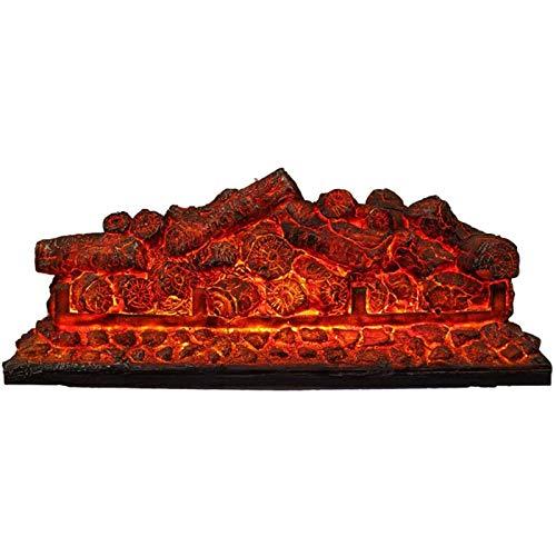 DGYAXIN Chimenea electrónica con Estufa de carbón, Estufa Decorativa LED, sin Calentador de calefacción, Llama ardiente 3D, Chimenea Cuadrada, para Hotel en casa