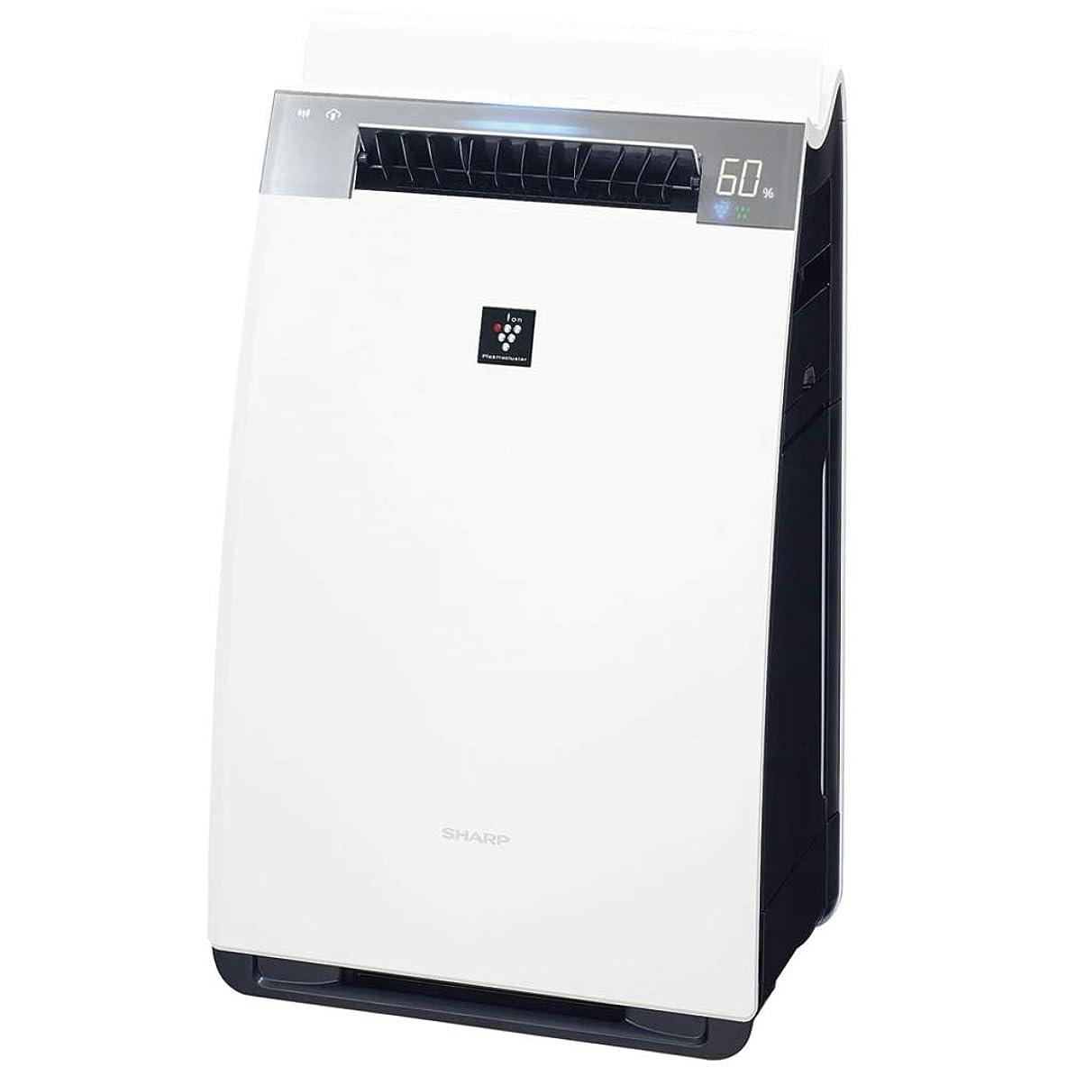 年齢無数の契約シャープ 加湿 空気清浄機 プラズマクラスター25000搭載 ハイグレードモデル ホワイト KI-JX75-W