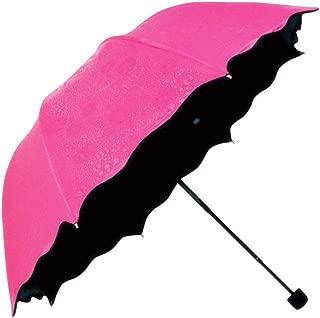 Honeystore Blossom Magic Compact Umbrella Triple Folding Anti-uv Dome Parasol Fuchsia