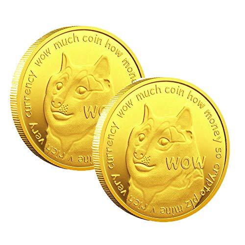 Monedas Dogecoin Conmemorativas 2020 Nuevos coleccionistas Monedas Doge chapadas en oro, Monedas Dogecoins de oro Conmemorativas 2021 Nuevos coleccionistas Doge chapadas en oro