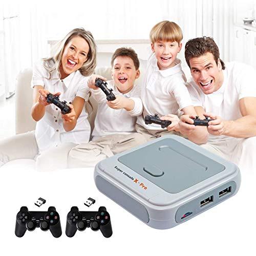 Super Consola X Consola De Videojuegos Más De 41.000 Juegos Integrados, Consolas De Juegos para TV 4K Compatibles con Salida HDMI/AV, con 2 Mandos para Juegos, Regalos para Niños,X Pro,256G