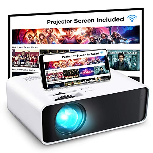 Projector, GooDee WiFi Mini Projector with...