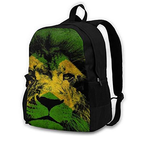 Travel Laptop Backpack Anti-Theft Backpacks Extra Large School Bookbag Jamaican Lion Flag Art Computer Bag Notebook For Women Men