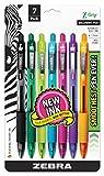 Zebra Pen Z-Grip Retractable Ballpoint Pen, Medium Point, 1.0mm, Assorted Fashion Colors - 7 Pieces