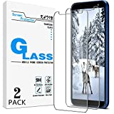 KATIN Galaxy J6 2018 Screen Protector - [2-Pack] Tempered Glass for Samsung Galaxy J6 (2018) Screen Protector Bubble Free, Easy to Install with Lifetime Replacement Warranty