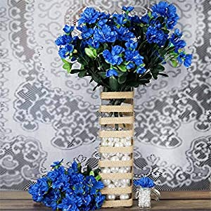 Tableclothsfactory 120 pcs Artificial GARDENIAS Flowers for Wedding Arrangements – Royal Blue