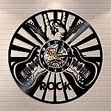 CVG Hombres decoración de Pared Sala de música Decoración de Pared Reloj de Disco de Vinilo Signo...